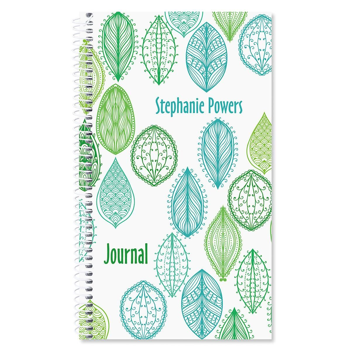 Abstract Leaves Personalized Daily Journal