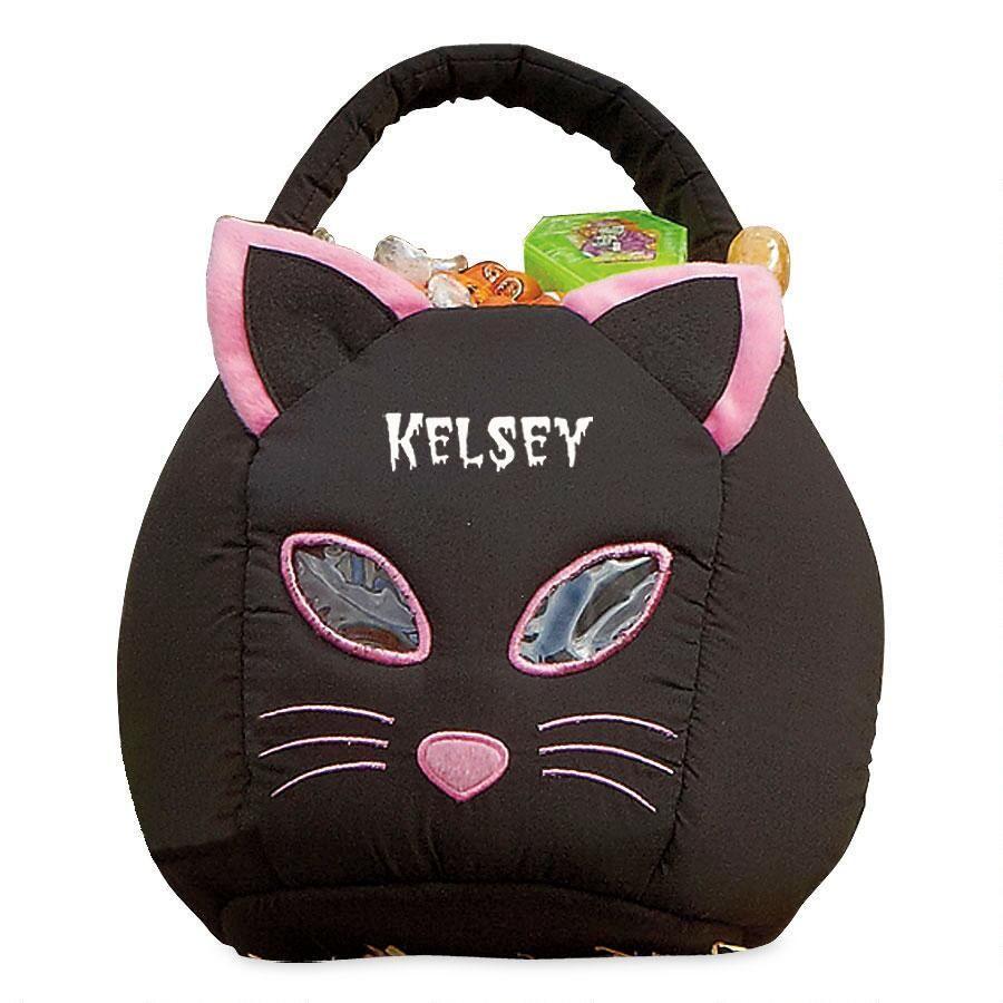 Black Cat Personalized Treat Bag