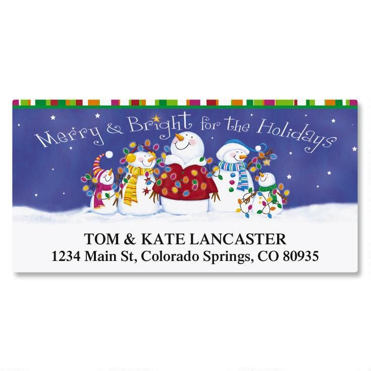 Bright Bunch Deluxe Return Address Labels