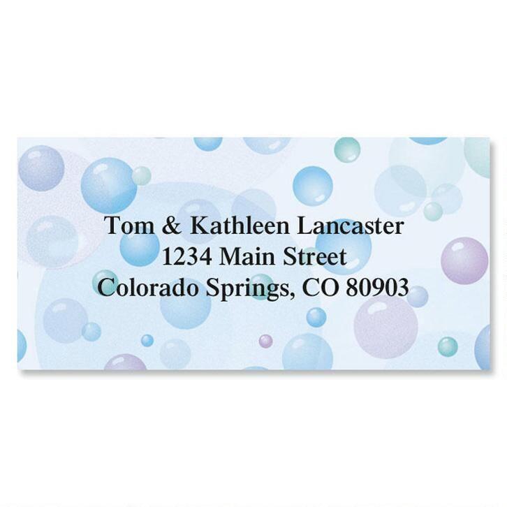 Bubbles Border Return Address Labels