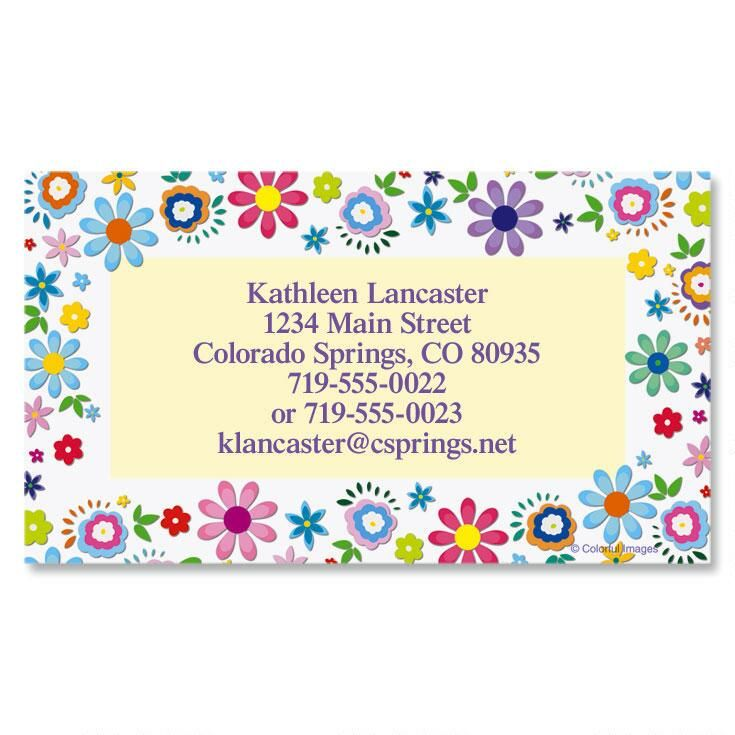 Cheerful Florals Business Cards