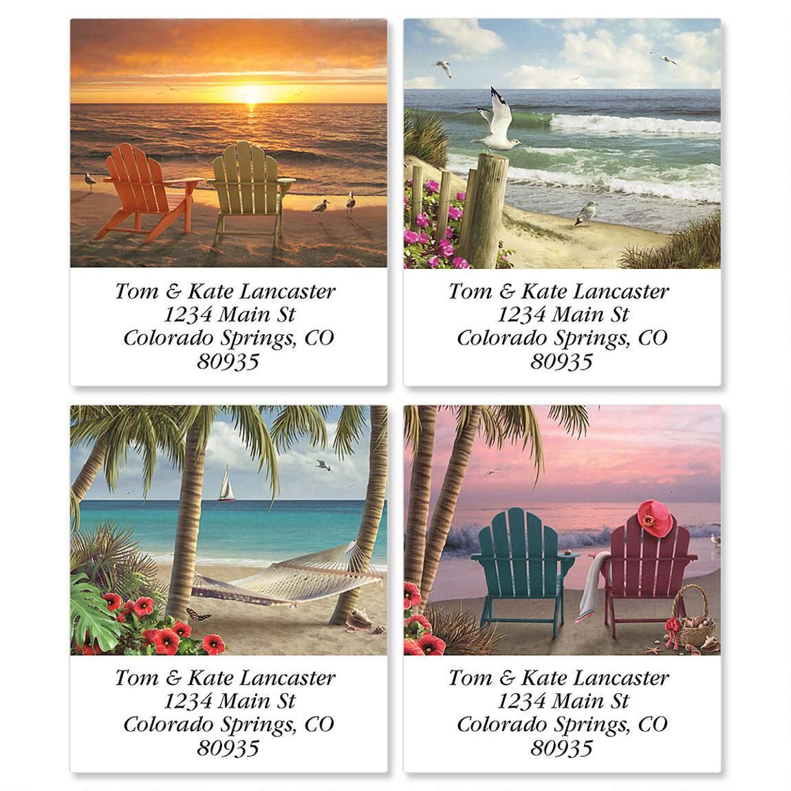 Coastal Dreams Select Return Address Labels  (4 Designs)