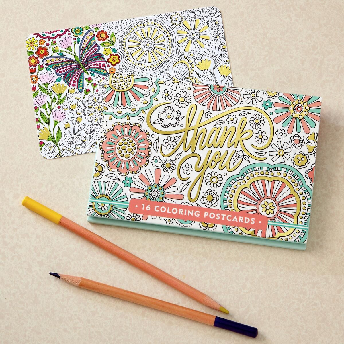 Coloring Custom Thank You Cards