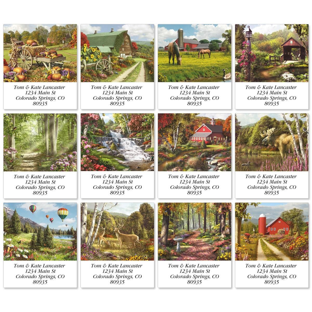 Country Walks Select Return Address Labels  (12 Designs)