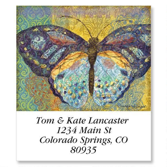 Elaborate Butterflies Select Return Address Labels  (6 Designs)