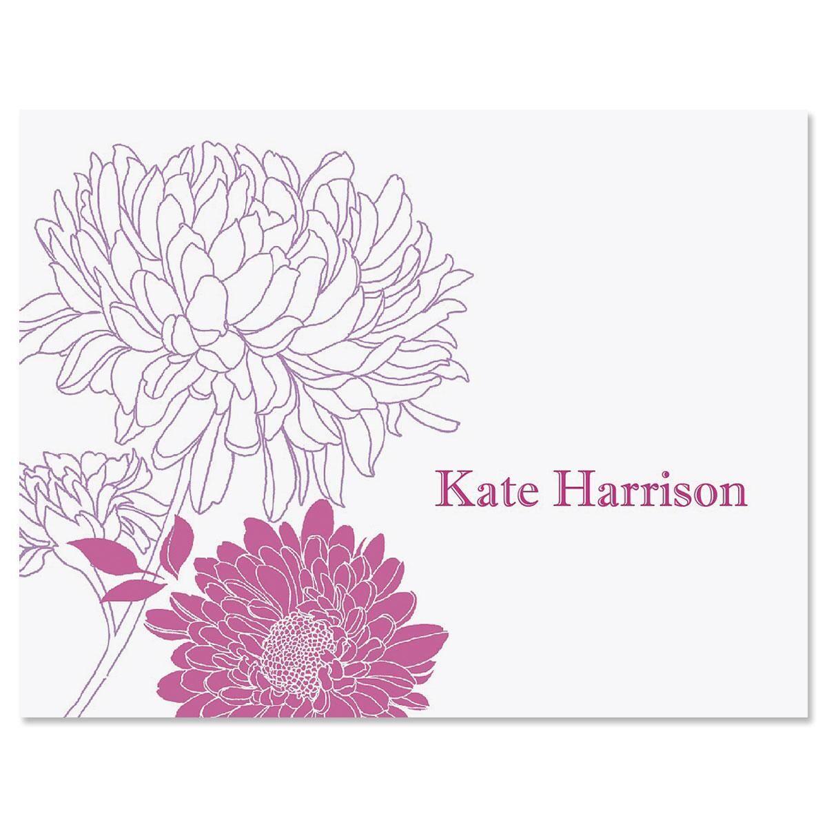 Flora Custom Note Cards