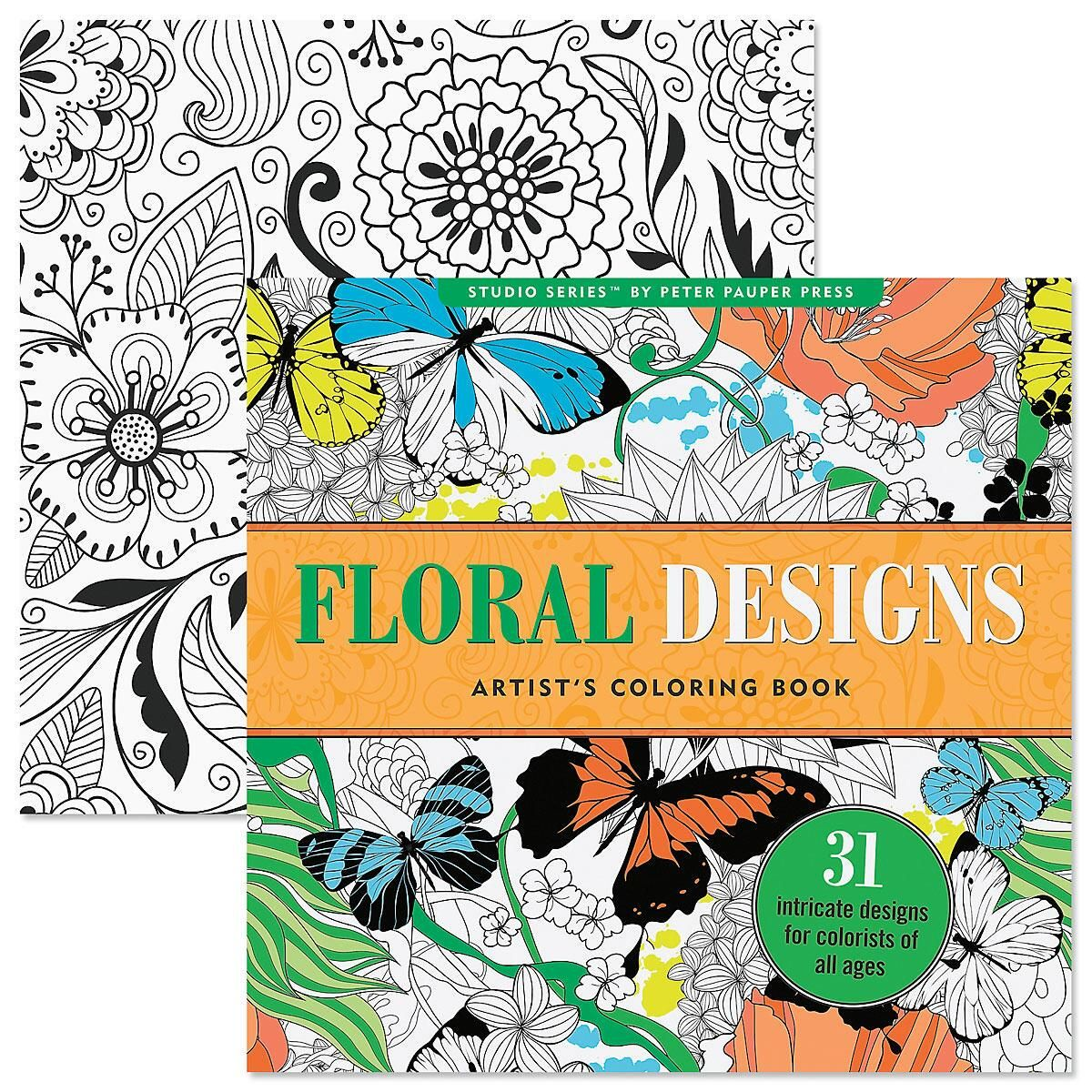 Floral Coloring Book for Adults