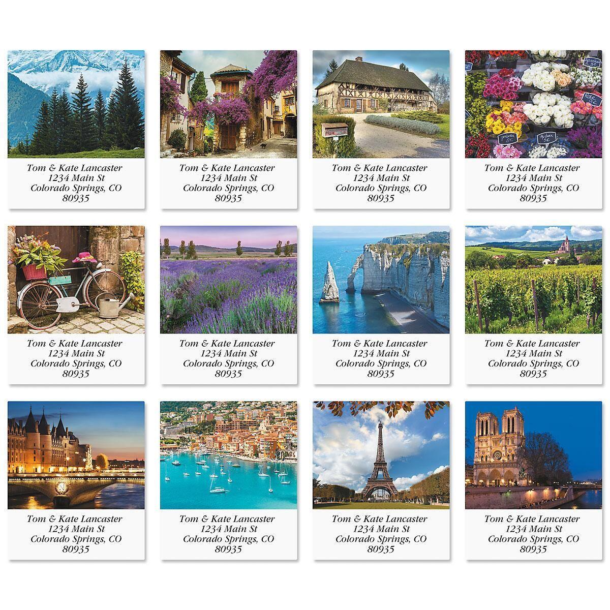 France Select Return Address Labels  (12 Designs)