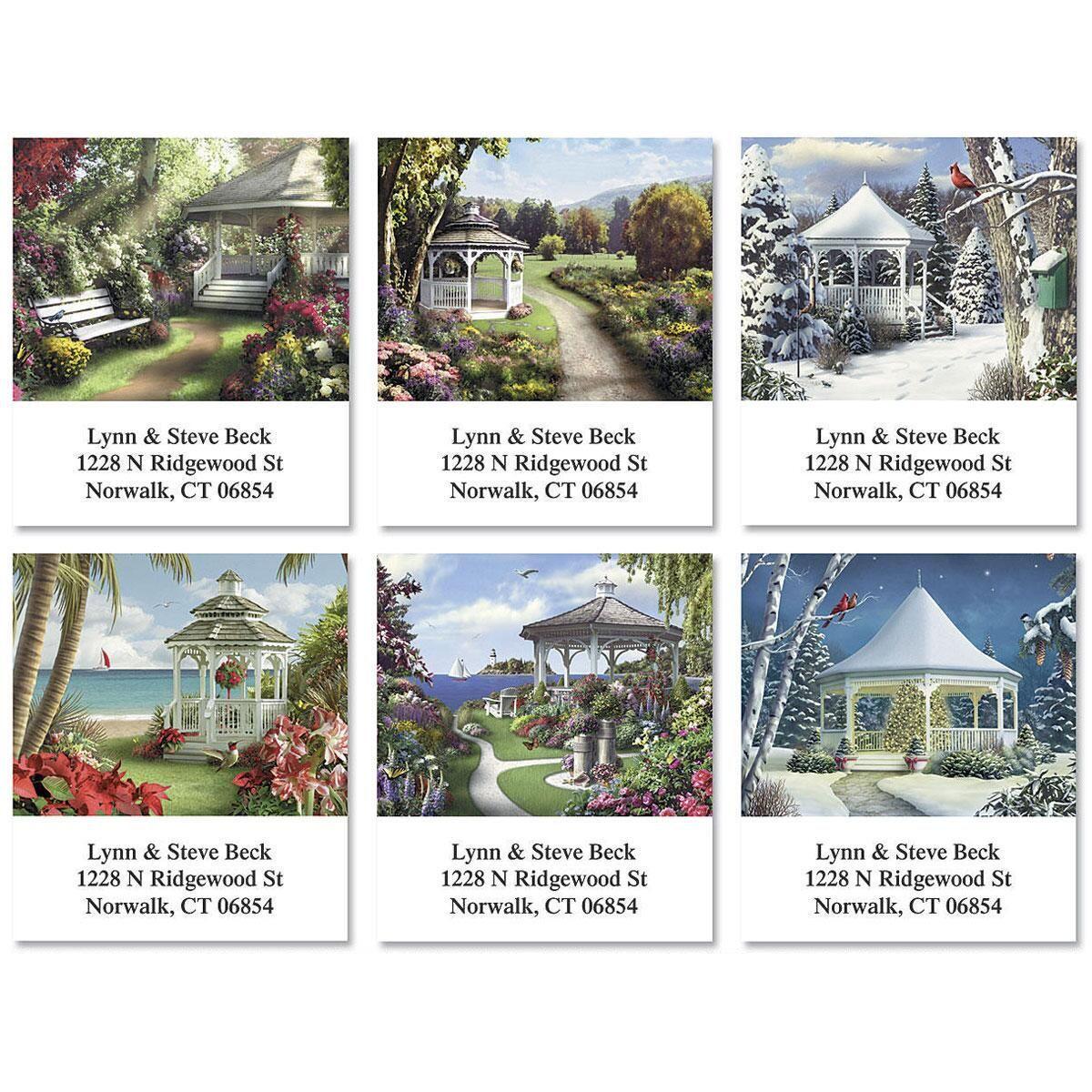 Gazebos Select Return Address Labels  (6 Designs)