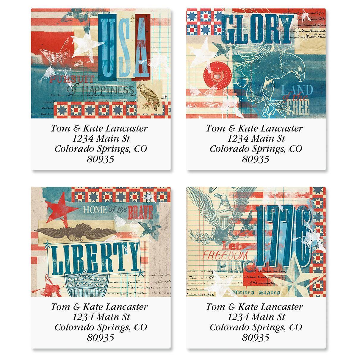 Glory Select Return Address Labels  (4 Designs)