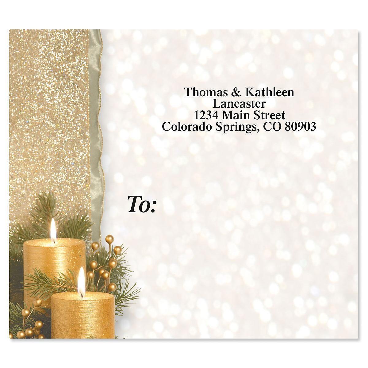 Golden Glimmer Package Labels