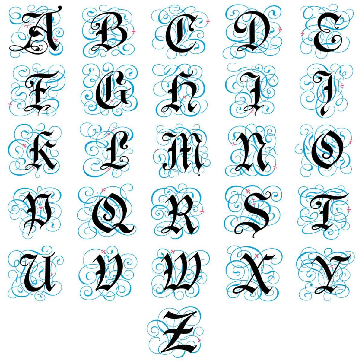 Gothic Monogram Classic Return Address Labels