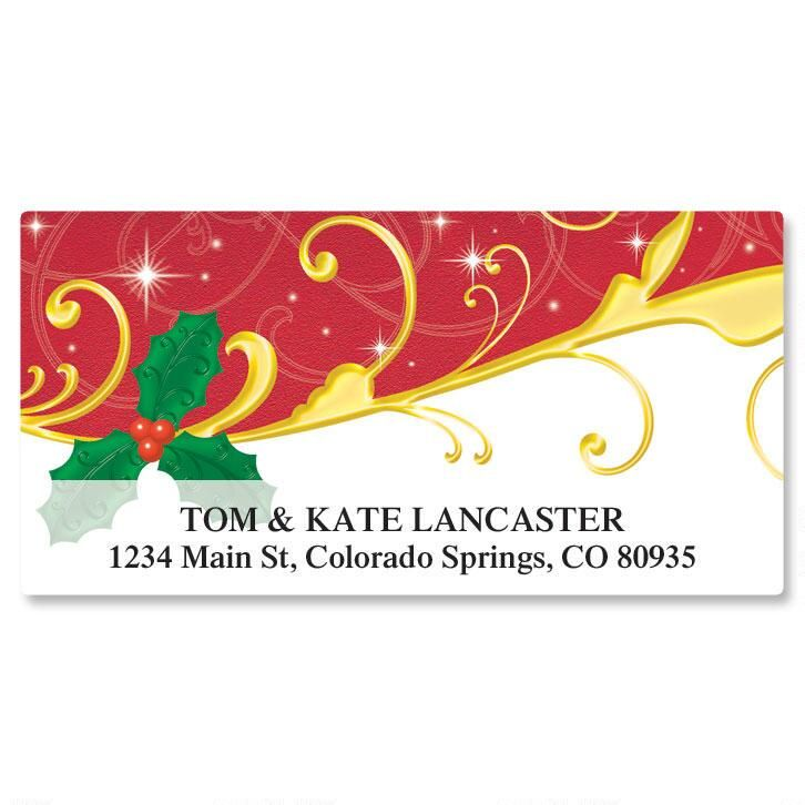 Holiday Dazzle Deluxe Return Address Labels
