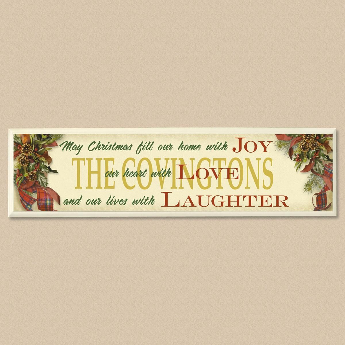 Home with Joy Wooden Wall Plaque