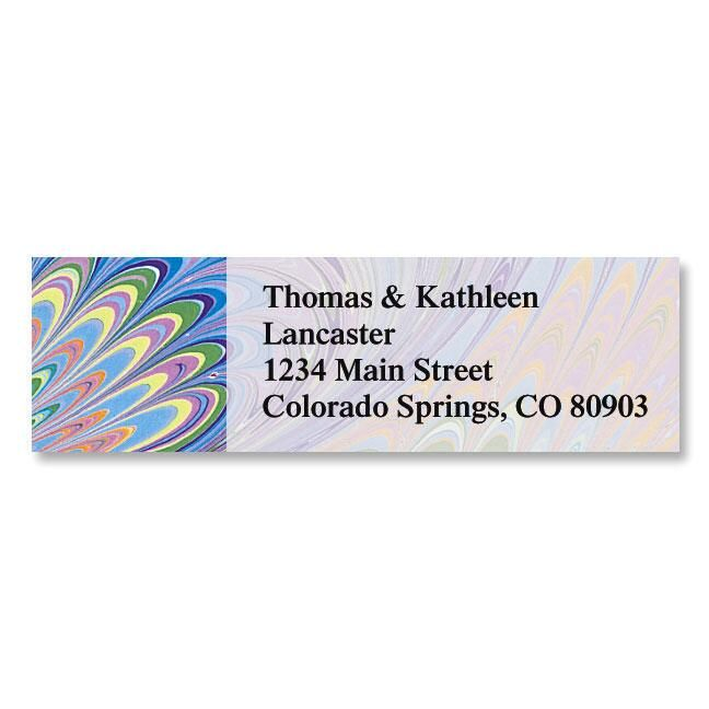 Marbled Paper Classic Return Address Labels