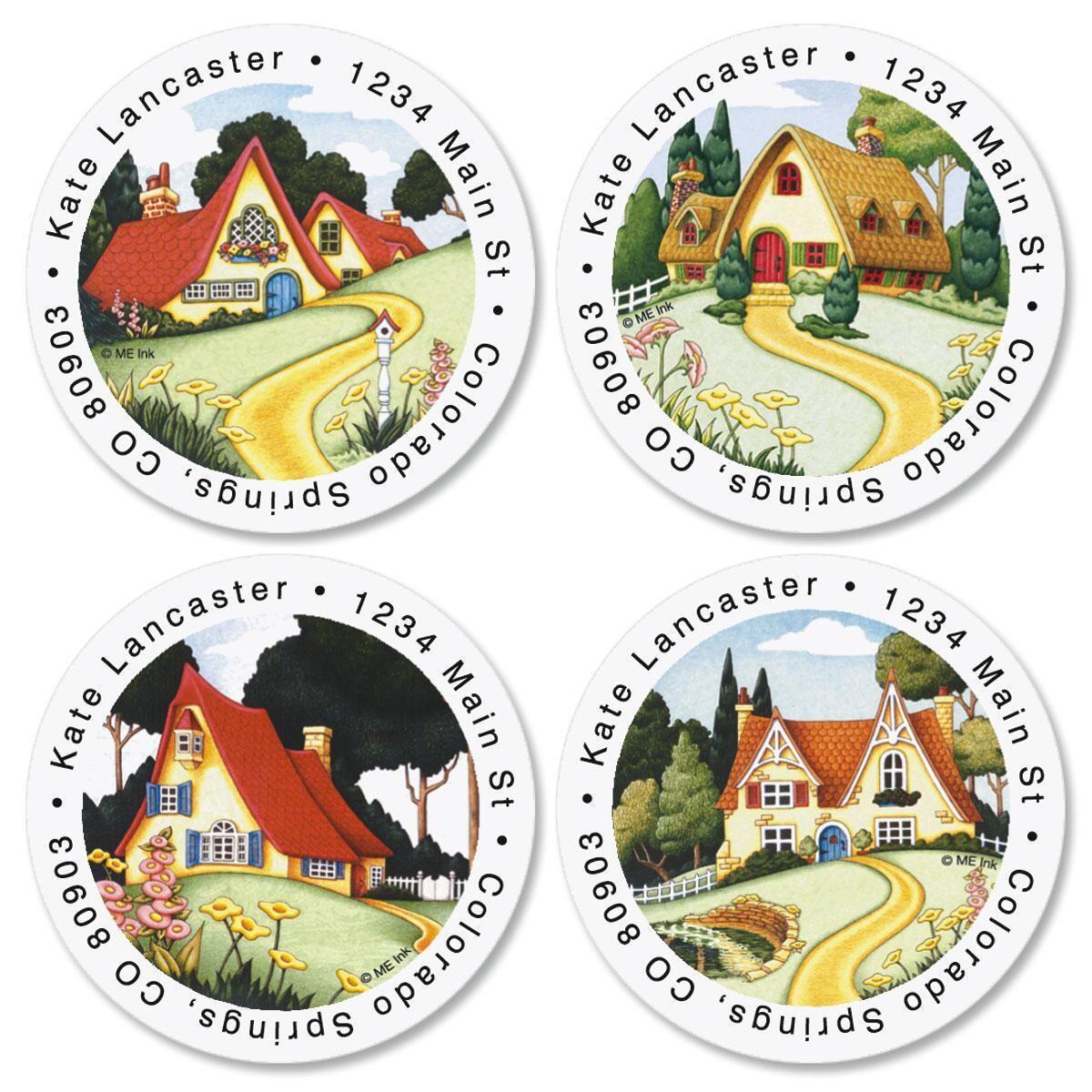 Mary Engelbreit®  At Home Round Return Address Labels  (4 Designs)