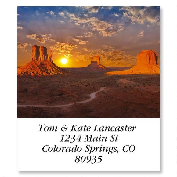 Monument Valley Select Return Address Labels