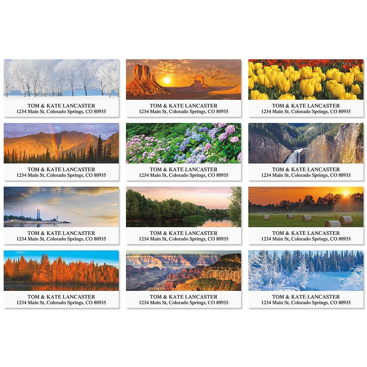 Nature's Beauty Deluxe Return Address Labels   (12 Designs)