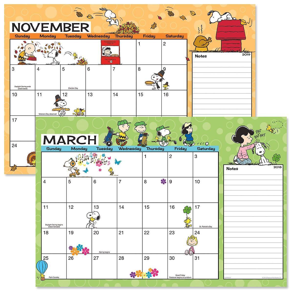 PEANUTS® 2018/2019 Calendar Pad