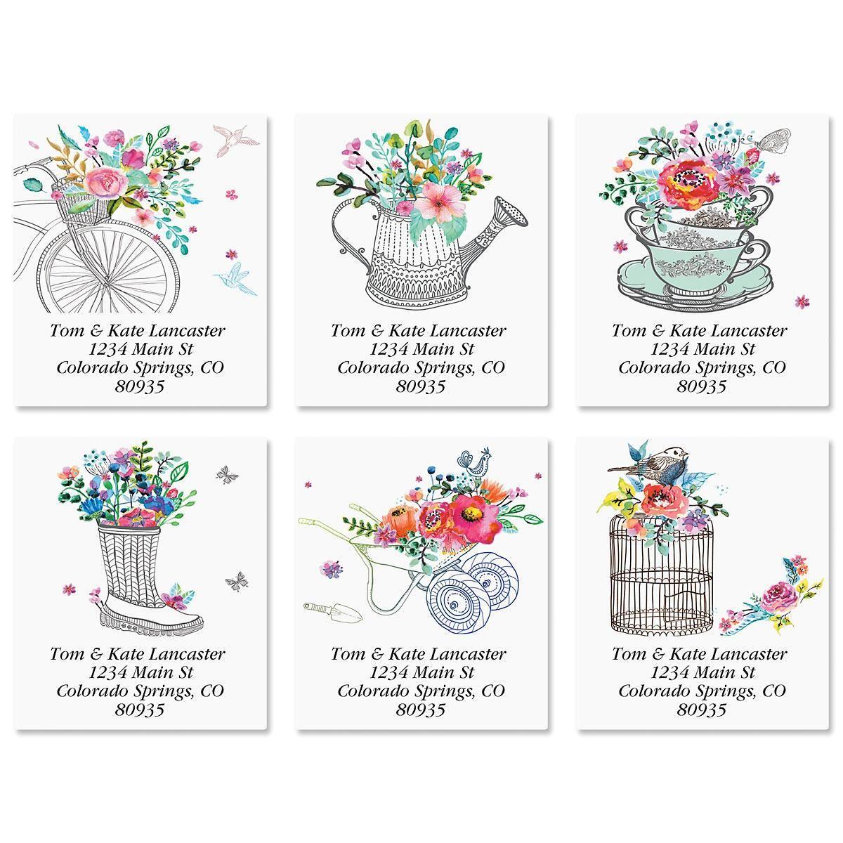 Prismatic Select Return Address Labels  (6 Designs)