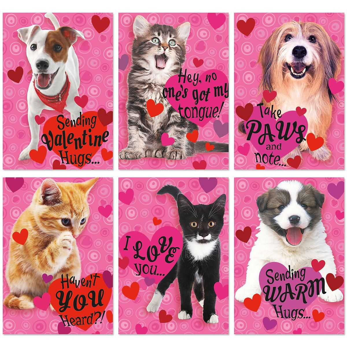 Puppies and Kittens Valentine Value Pack