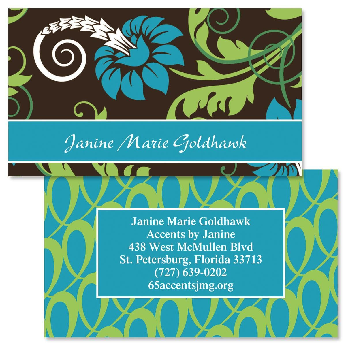Razzle Dazzle Double-Sided Business Cards