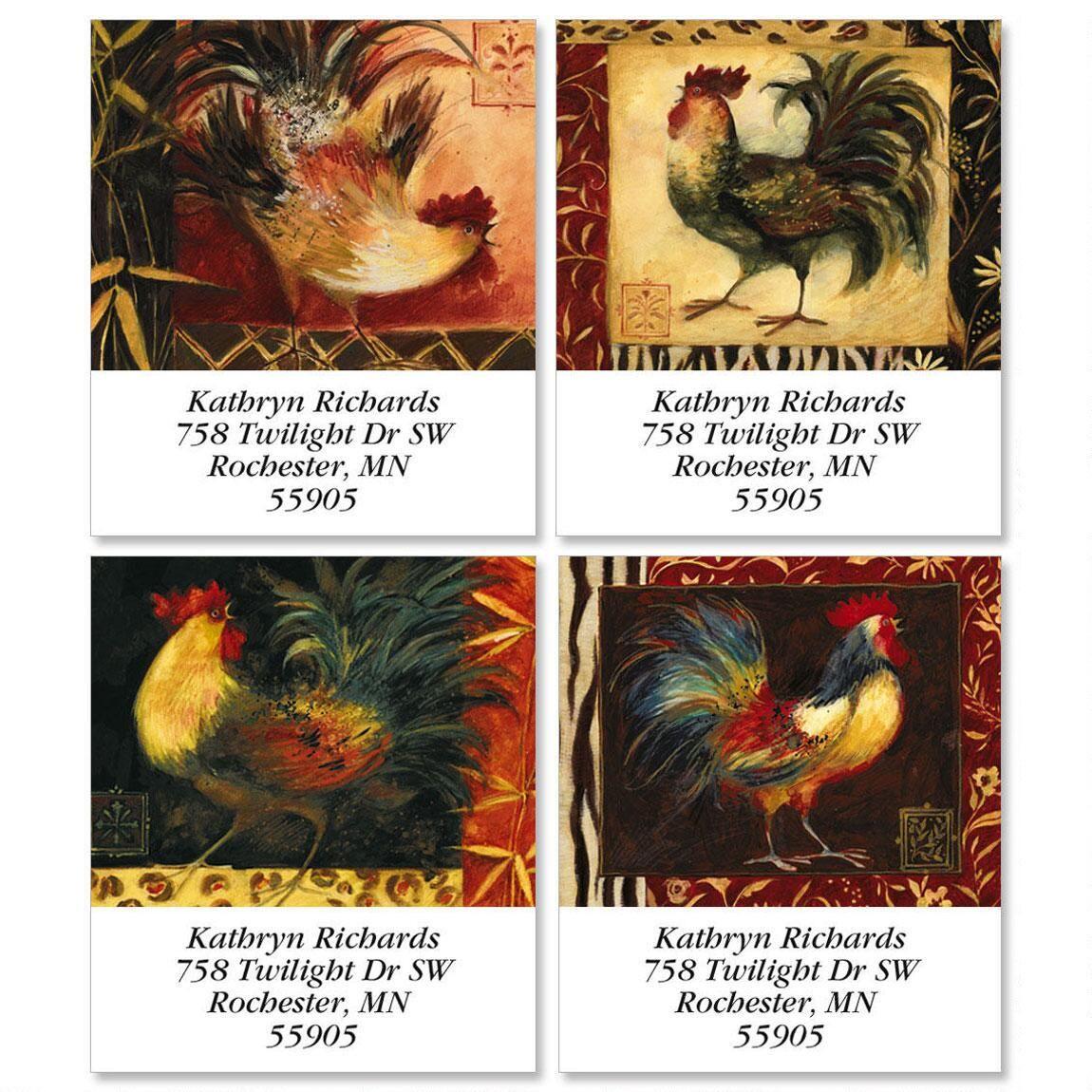 Safari/Rooster Select Return Address Labels (4 Designs)