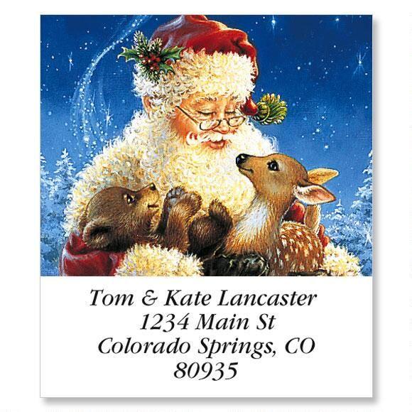 Santa's Friends Holiday Select Return Address Labels
