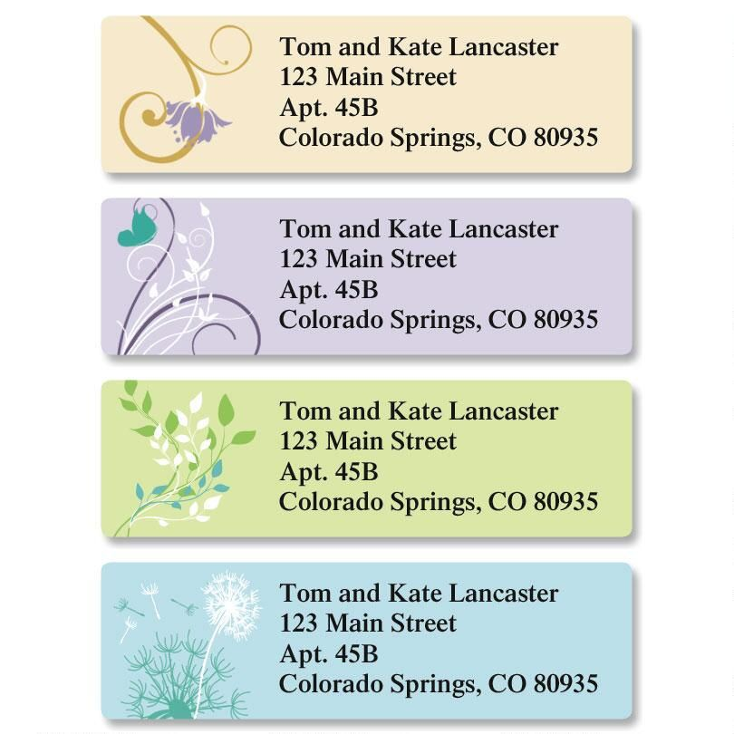 Silhouette Classic Return Address Labels  (4 Designs)