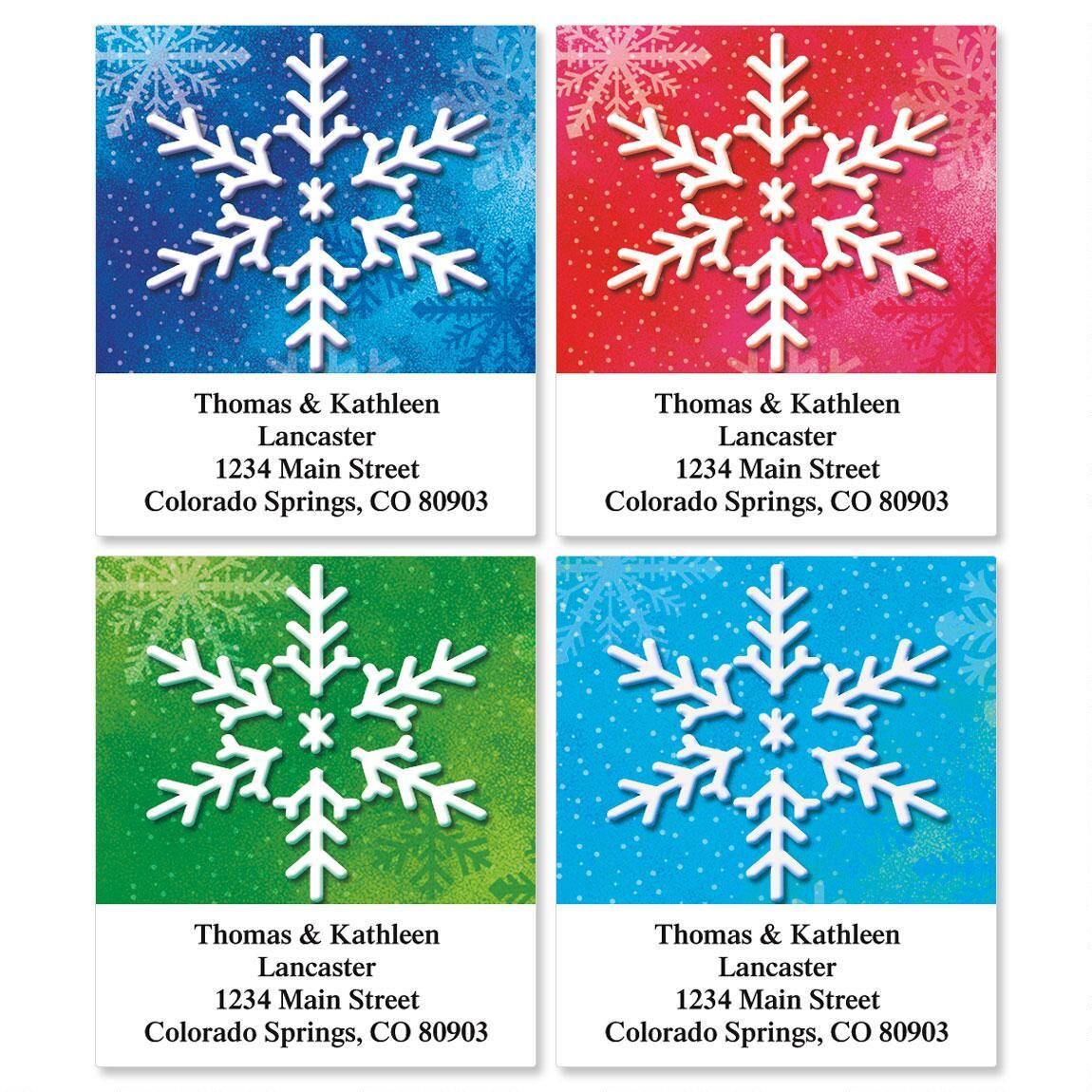 Snowflake Select Return Address Labels  (4 Designs)
