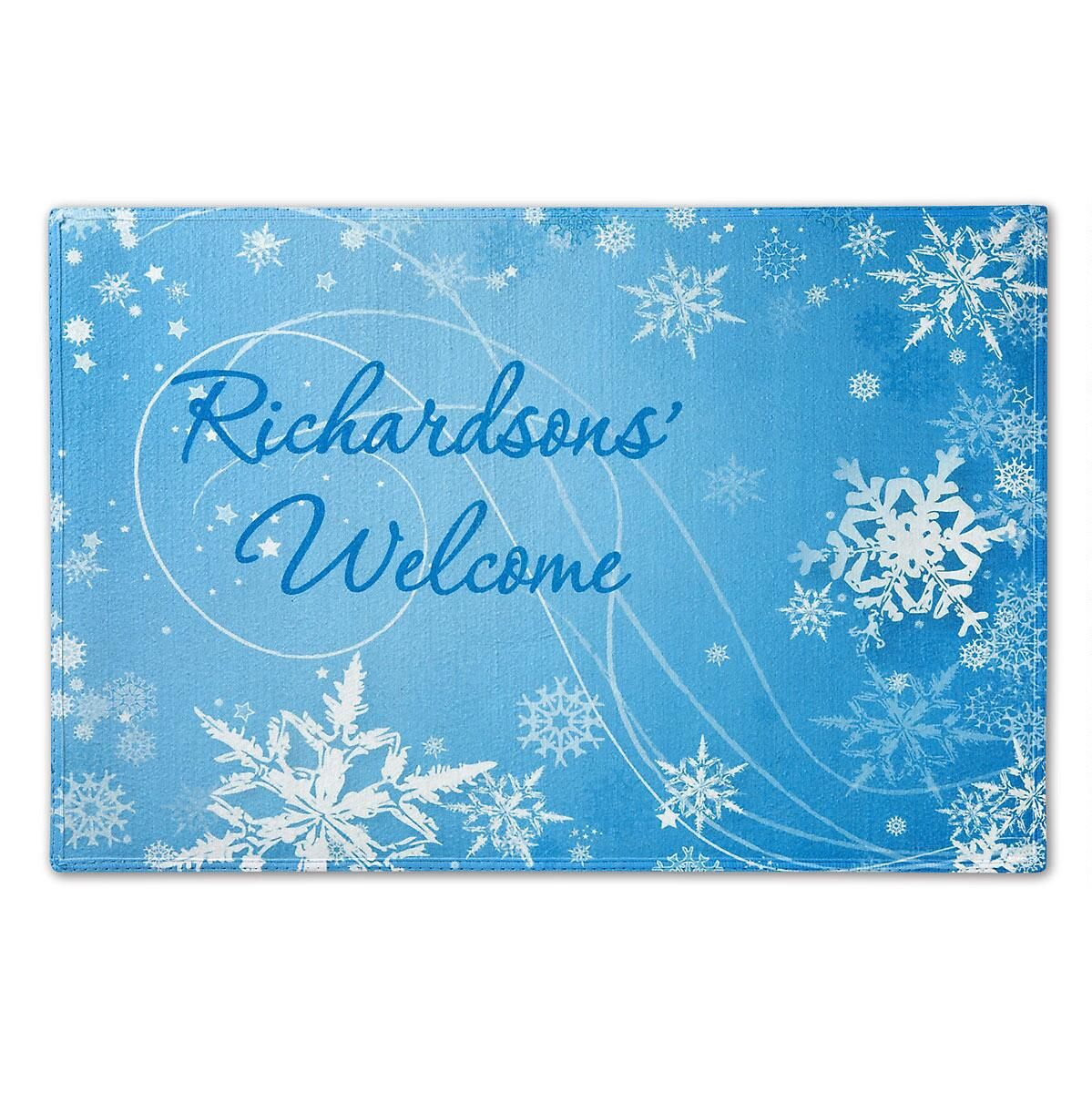 Snowflakes Custom Doormat