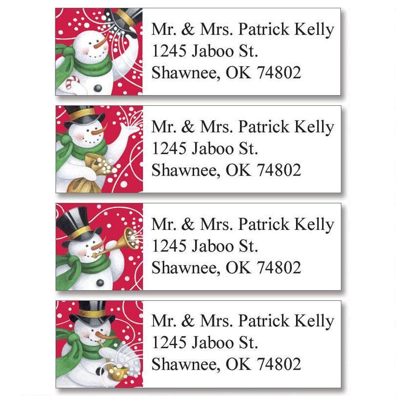Snowmakers Classic Return Address Labels   (4 Designs)