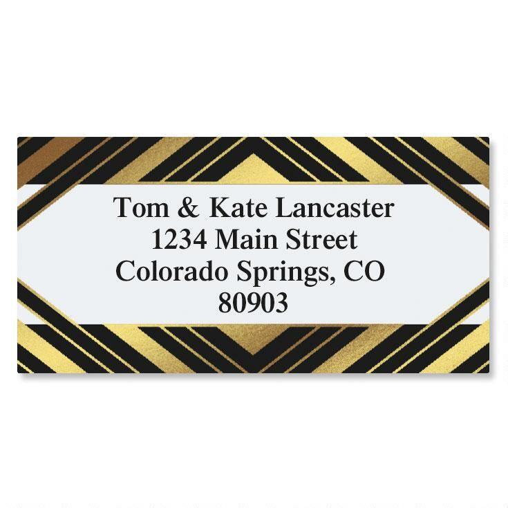 Symmetry Foil Border Return Address Labels