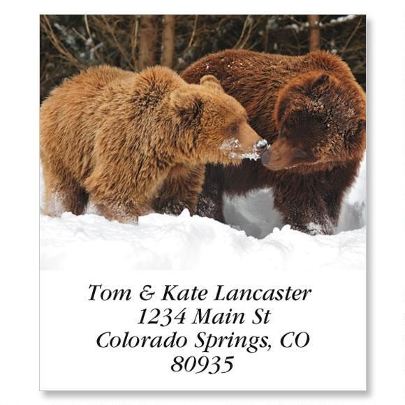 Two Bears Select Return Address Labels