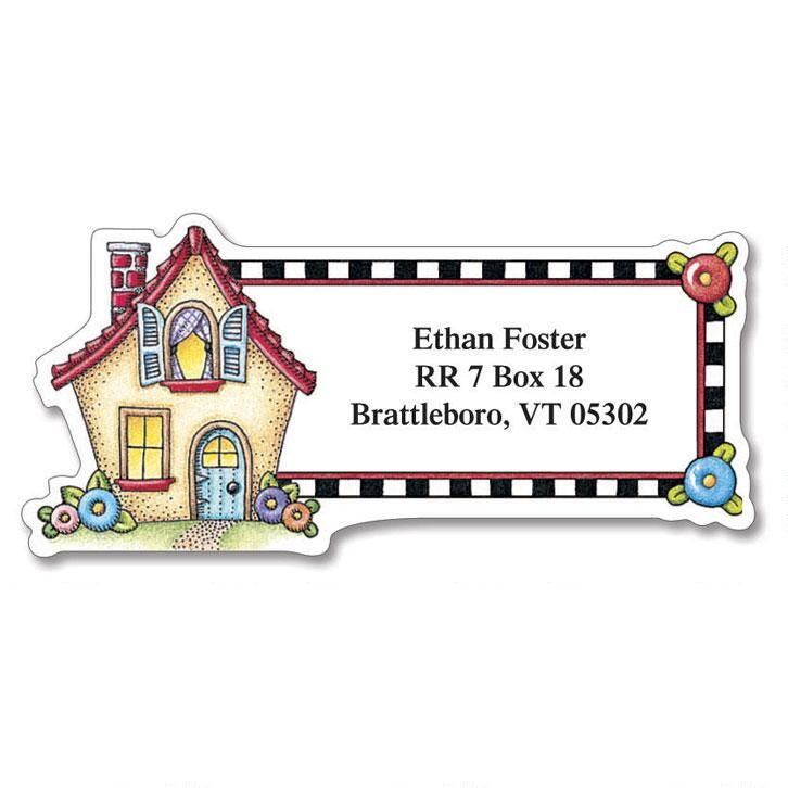Very Mary Diecut Return Address Labels  (6 Designs)