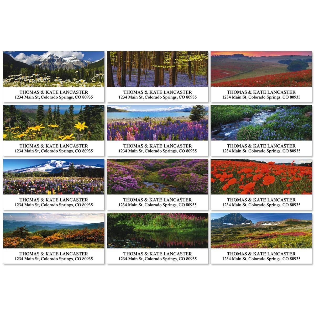 Wildflower Escape Deluxe Return Address Labels  (12 Designs)
