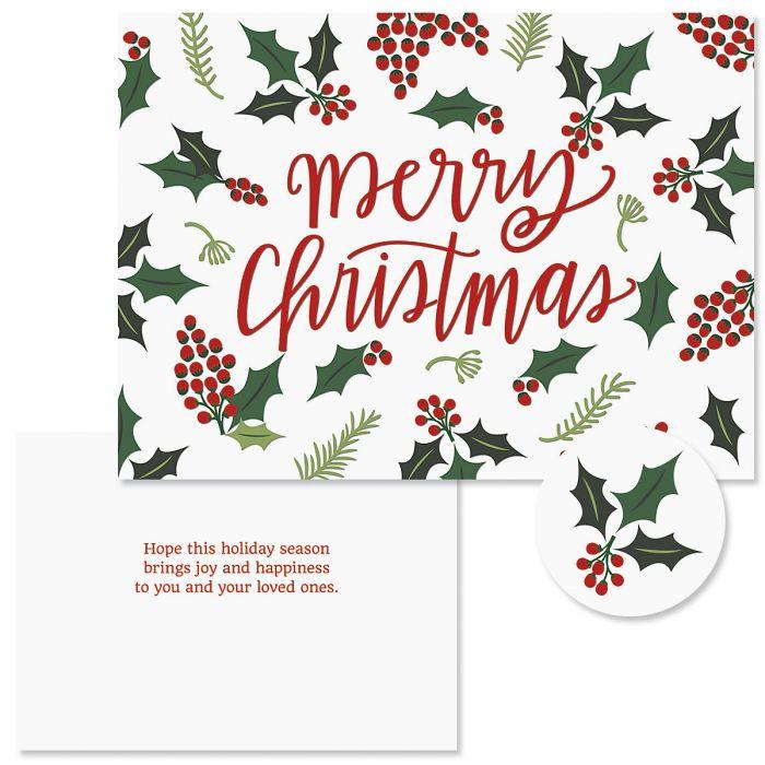Berry Border Christmas Cards