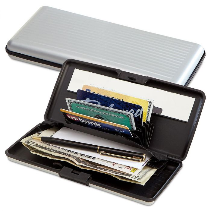 Big Card Guard Aluminum Alloy Wallet