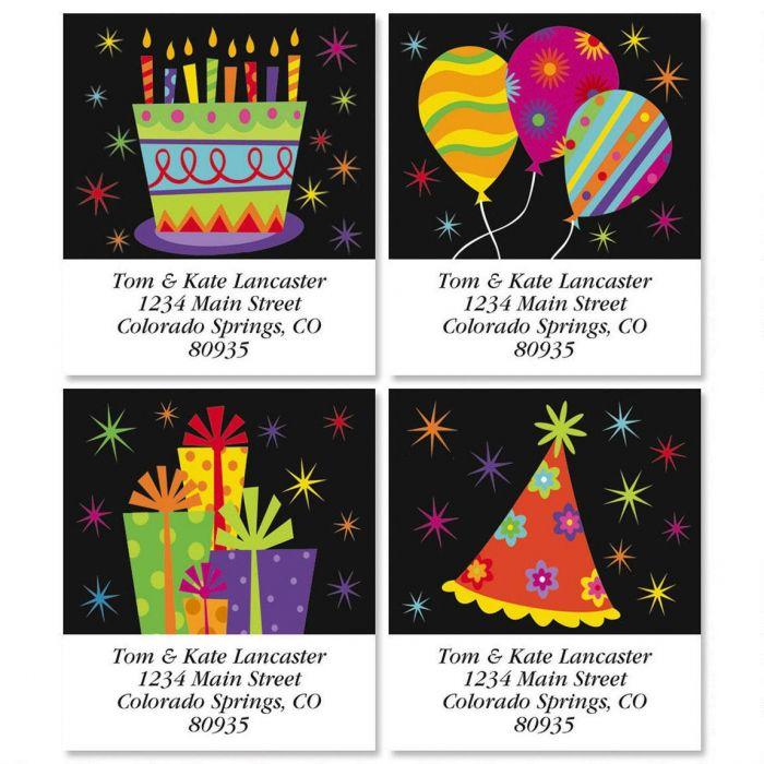 Birthday Select Return Address Labels  (4 Designs)