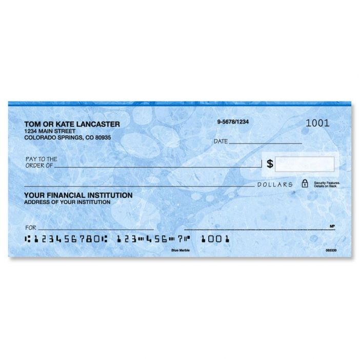 Blue Marble Personal Checks