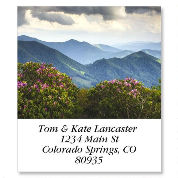 Blue Ridge Mountains Select Return Address Labels