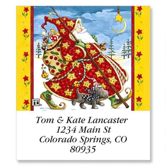 Check Cherry Santa Select Return Address Labels