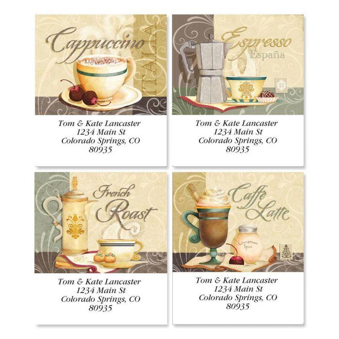 Coffee Talk Select Return Address Labels  (4 Designs)