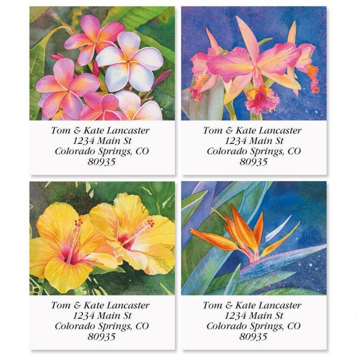 Flowers of Paradise Select Return Address Labels  (4 Designs)