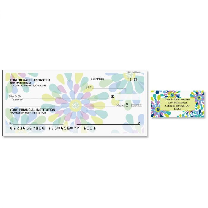 Fresh Blooms Duplicate Checks with Matching Address Labels