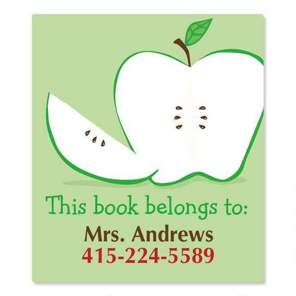 Green Apple Bookplates