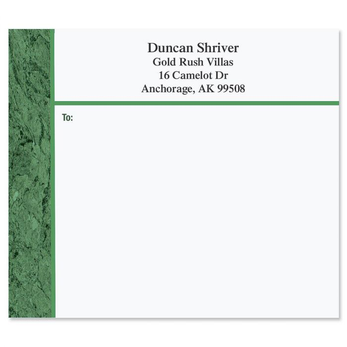 Green Marble Package Labels