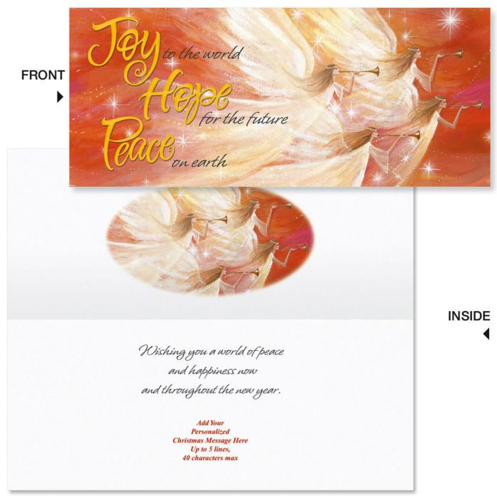 Hark the Angels  Slimline Holiday Cards