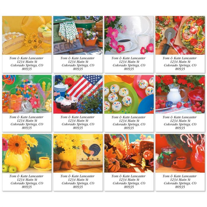 Heart and Home Select Return Address Labels  (12 Designs)