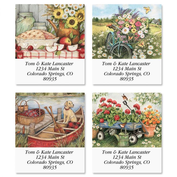 Heart and Home Select Return Address Labels  (4 Designs)